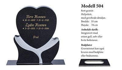 Modell nr. 504 – Sort granitt
