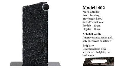 Modell 402 – Mørk labrador
