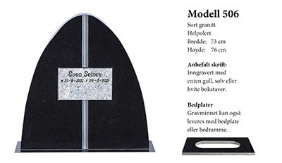 Modell nr 506 – Sort granitt
