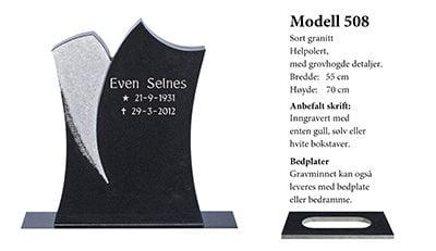 Modell nr. 508 – Sort granitt