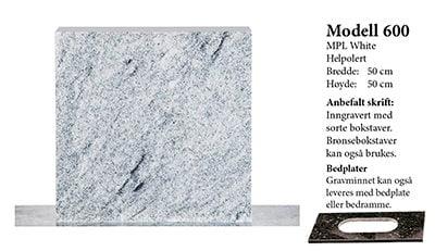 Modell 600 – MPL White