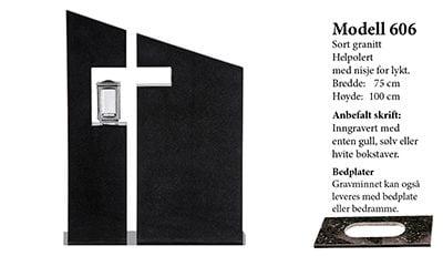 Modell 606 – Sort granitt