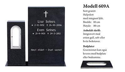 Modell 609 A – Sort granitt