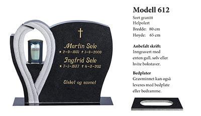 Modell 612 – Sort granitt