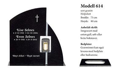 Modell 614 – Sort granitt