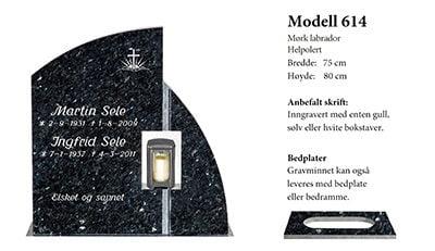 Modell 614 – Mørk labrador