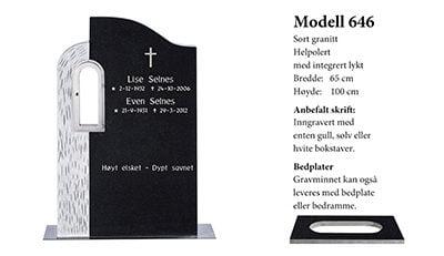 Modell 646 – Sort granitt