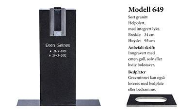 Modell 649 – Sort granitt