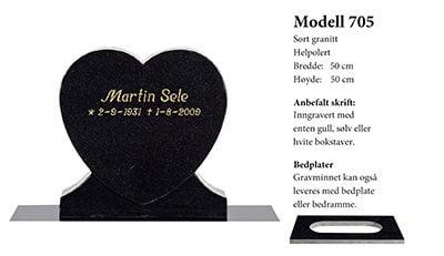 Modell 705 – Sort granitt