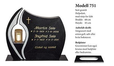 Modell 751 – Sort granitt