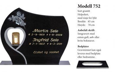 Modell 752 – Sort granitt
