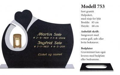 Modell 753 – Sort granitt