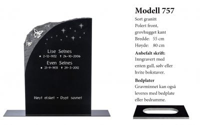 Modell 757 – Sort granitt