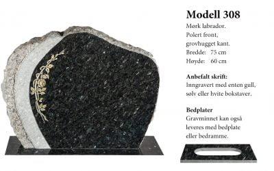 Modell 308 – Mørk labrador
