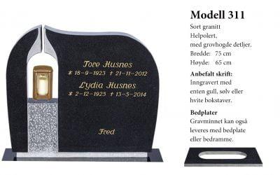 Modell 311 – Sort granitt