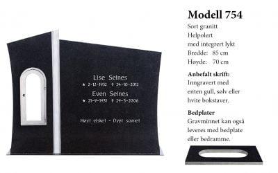 Modell 754 – Sort granitt
