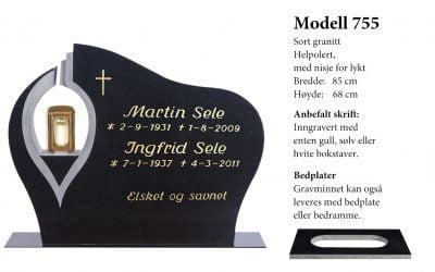 Modell 755 – Sort granitt